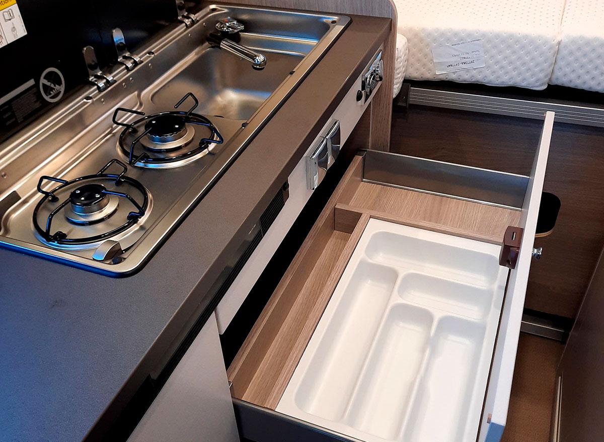 Küche des Bürstner Campeo 640